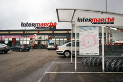 Supermarché d'Intermarché photographie stock libre de droits