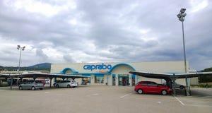 Supermarché de Caprabo Photo stock