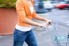 supermarché de client photographie stock