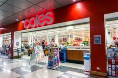 Supermarché de Coles en colline de boîte, Melbourne Images libres de droits