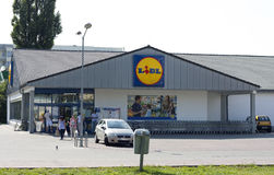 Supermarché de Lidl Photo stock