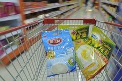 Supermarché en Chine Images stock
