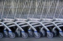 Supermarché Karts Images libres de droits