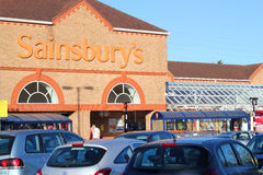 Supermarché de Sainsbury. Images stock