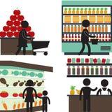Supermarche 免版税库存照片