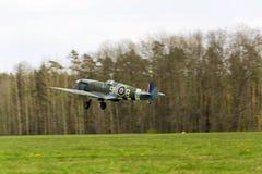 Supermarine烈性人英国英国皇家空军离开使用的战机 免版税图库摄影