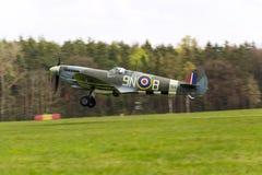 Supermarine烈性人英国英国皇家空军离开使用的战机 免版税库存照片