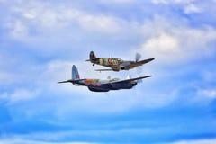 Supermarine-Hitzkopf- und Dehavilland-Moskitokampfflugzeuge lizenzfreies stockfoto