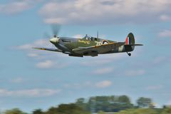 Supermarine Spitfire, Battle of Britain. Battle of Britain memorial flight at the Fairford Royal Air tattoo 2015 Royalty Free Stock Photos