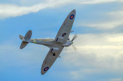 Supermarine Spitfire. Fighter flying high Stock Photography