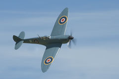 Supermarine Spitfire. Hanger 11's Photo recon spitfire MkXI makes a curving pass at Shuttleworth Airshow Stock Photo