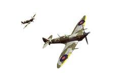 Supermarine Spitfire isolated on white background Royalty Free Stock Images