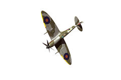 Supermarine Spitfire isolated on white background Stock Photography