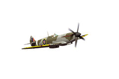 Supermarine Spitfire isolated on white background Stock Photo