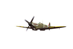 Supermarine Spitfire isolated on white background Royalty Free Stock Photography