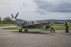 Supermarine Spitfire M XVI (airshow) Stockfoto
