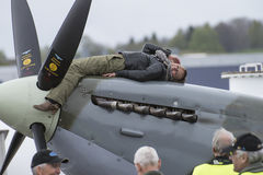 Supermarine Spitfire M XVI (airshow) Stockfotos