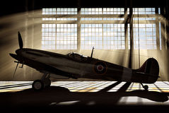 Supermarine Spitfire Mk.V - modelled in 3D Stock Photo