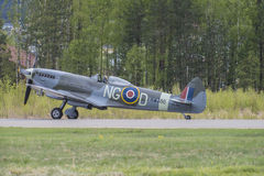 Supermarine Spitfire Mk. XVI (airshow) Stock Photography