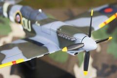 Supermarine Spitfire model. Model of World War Two Supermarine Spitfire aircraft Stock Photo