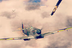 Supermarine Spitfire victorious during WW2 Royalty Free Stock Photo