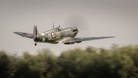 Supermarine Spitfire vintage World War Two British fighter aircraft royalty free stock images