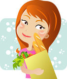 Supermarket girl Royalty Free Stock Photography
