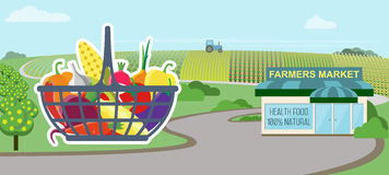 Supermarketów naturalni produkty royalty ilustracja