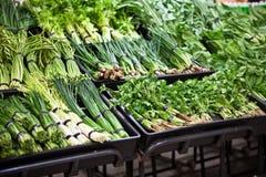 supermarketów warzywa Fotografia Royalty Free