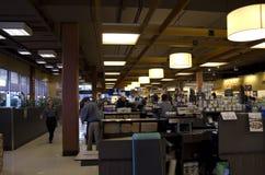 Supermarketów wnętrzy oświetlenie Obrazy Stock