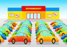 Supermarket royalty free illustration