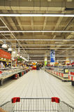 Supermarket. Istanbul Maltepe Carrefour has opened a new branch. Deli section Stock Photos