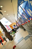 Supermarket. Istanbul Maltepe Carrefour has opened a new branch Royalty Free Stock Photography