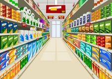 Supermarket royalty free illustration