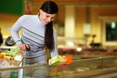In supermarket Royalty Free Stock Photos