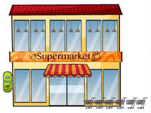 A supermarket Royalty Free Stock Photo
