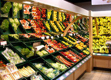 Supermarket. Fruit and vegetables in supermarket Royalty Free Stock Photography
