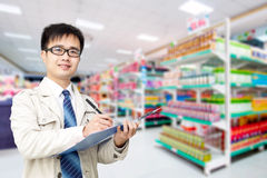 Supermarket administrator Royalty Free Stock Photos