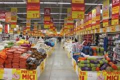 Supermarket Auchan Arkivfoton