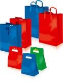 Supermarket bags vector royalty free illustration