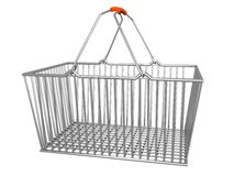 Supermarket Basket, Isolated_Raster Royalty Free Stock Image