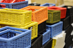Supermarket baskets Stock Photography