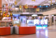 Supermarket blurred background with bokeh. The shopping center. Supermarket blurred background with bokeh. Shopping center royalty free stock photo