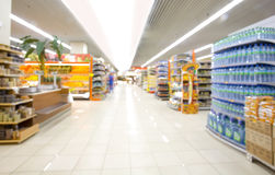 Supermarket. In blurry for background Stock Image