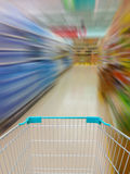 Supermarket in blurry for background Royalty Free Stock Photo
