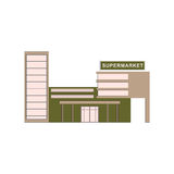 Supermarket building where buying products. For game, ui, app. Vector Stock Images