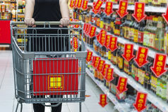Supermarket cart, Royalty Free Stock Image