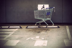 The supermarket cart Royalty Free Stock Image