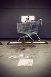 The supermarket cart Stock Photography