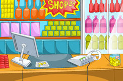 Supermarket Cartoon Royalty Free Stock Photo